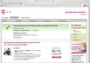 27.06.2014: DSL Business 50000 VDSL ist verfügbar